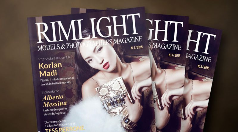 Cover RIMLIGHT Models & Photographers Magazine n. 3/2015
