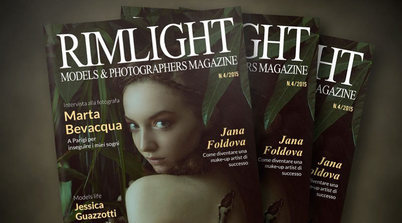 Cover RIMLIGHT Models & Photographers Magazine n. 4/2015