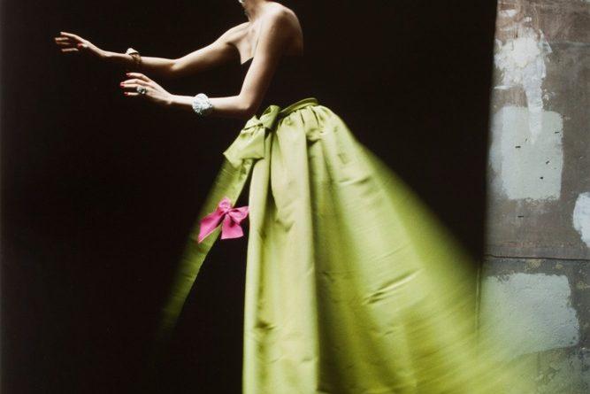 Ahn Duong wearing Yves Saint Laurent, 1986