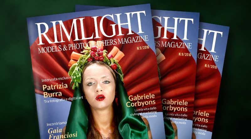 Cover RIMLIGHT Models & Photographers Magazine - N. 9/2016