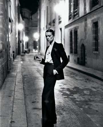 Rue Aubriot, French Vogue from the series White Women Paris 1975 © Helmut Newton Estate