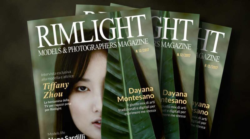 Cover RIMLIGHT Models & Photographers Magazine - N. 12/2017